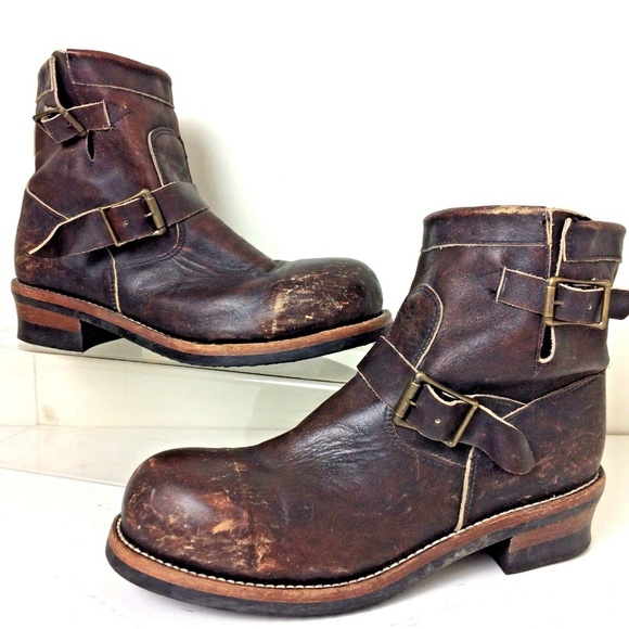 4bd20369572 Freebird by Steven Other - Freebird by Steven Brown Leather Engineer Boots 9